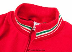 Classic Cycling Red Jersey 1970s