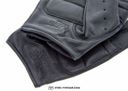 SVB Smooth Leather Cycling Gloves - Black