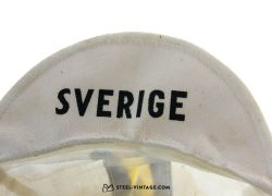 Vintage Sverige White Cycling Cap