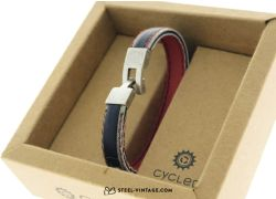 Cycled Black Red White Wrist Band