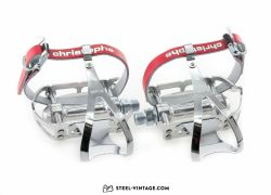 MKS Sylvan Road Pedals with Toe Clips and Straps