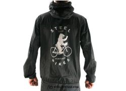 Steel Vintage Bikes Windbreaker Berlin Bear - Black