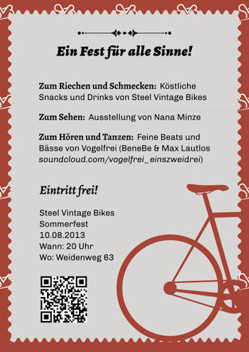 Summer Party at Steel Vintage Bikes on Saturday 10th August 2013